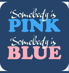 pink blue vector image