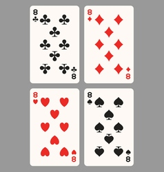 Playing cards eight vector image