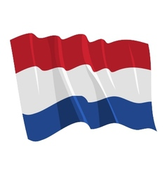 political waving flag of netherlands vector image