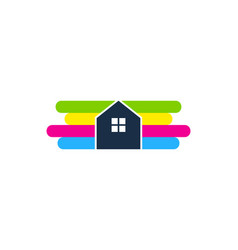 property paint logo icon design vector image