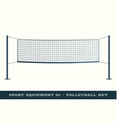 Realistic volleyball net for sport game activity vector