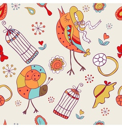 seamless pattern for baby girls vector image