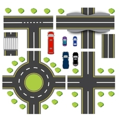 Set design of transport interchanges vector