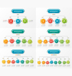 set presentation business infographic templates vector image