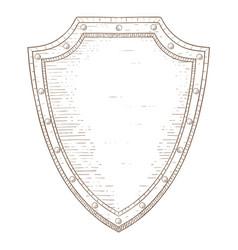 Shield hand drawn sketch vector