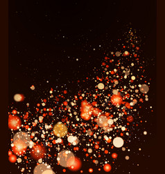 Shining blur bokeh background for your design vector