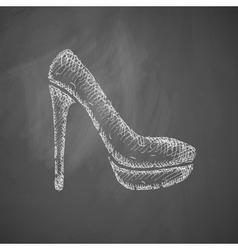 shoe icon vector image