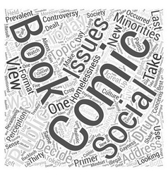 Social issues in comic books word cloud concept vector
