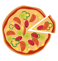 spicy mexican pizzaprint vector image