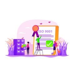 standard for quality control concept vector image