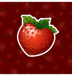 Strawberries in a heart shape vector