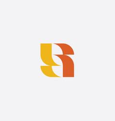 stylized s logotype yellow icon symbol vector image