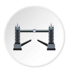 Tower bridge icon circle vector