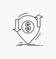 transaction financial money finance transfer line vector image