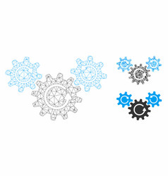 Transmission wheels rotation mesh network vector