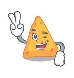 Two finger nachos character cartoon style vector