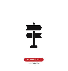 Way direction icon vector