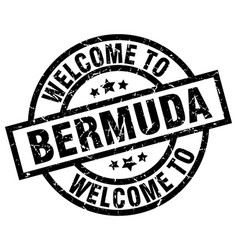 welcome to bermuda black stamp vector image