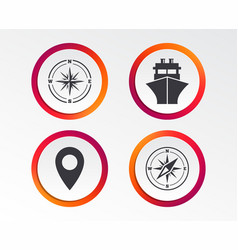 Windrose navigation compass shipping delivery vector