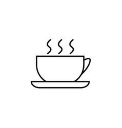 cup of hot tea icon vector image vector image