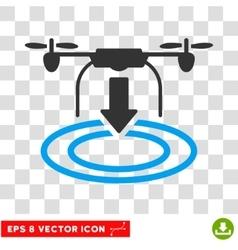 Drone Landing Eps Icon vector image