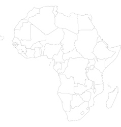 Outline Africa map vector image