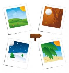 Polaroid seasons vector image vector image