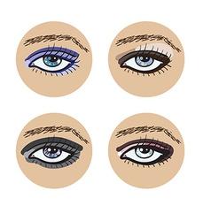 Set of beautiful female eyes vector image
