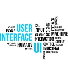 Word cloud user interface vector