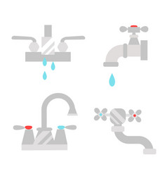 bathroom shower icons with process water savings vector image
