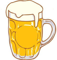 Beer Mug Pint Clipart Design D vector image