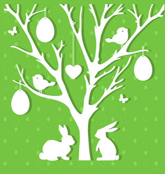 easter paper decoration in form of easter tree vector image