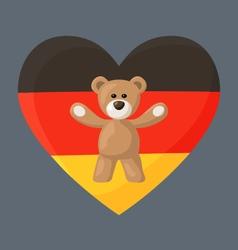 German teddy bears vector