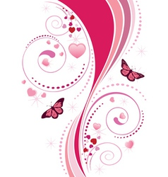 Pink swirl ornament vector image vector image
