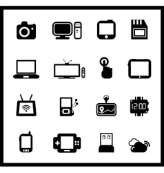 set of electronic and mobile devices vector image