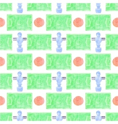 Watercolor seamless pattern with ball player and vector image vector image