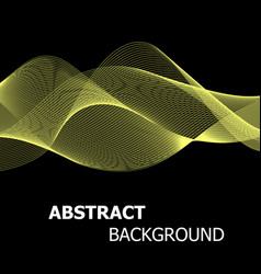 abstract yellow line wave background vector image vector image