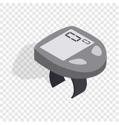 bicycle speedometer computer isometric icon vector image