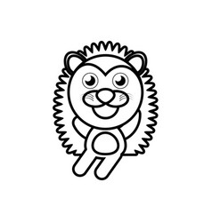 cartoon porcupine animal outline vector image