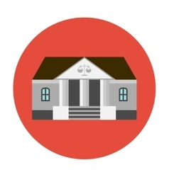 Courhouse icon flat vector image vector image