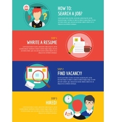 Job search after university infographic Students vector image vector image