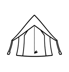 outline tourism tent camping excursions vector image vector image