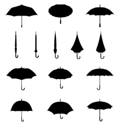 silhouettes of umbrellas vector image vector image