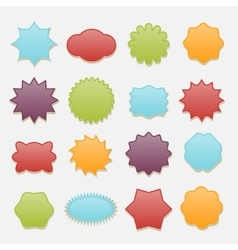 Sticky badges stars and clouds tags set vector image vector image