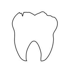 Tooth dental care related icon image vector