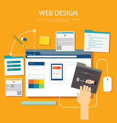 website development project design concept vector image vector image