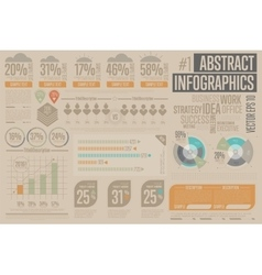 Business Infographic elements Graph icon vector image vector image