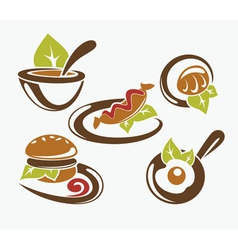 common food vector image vector image