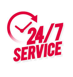 24 7 service icon vector
