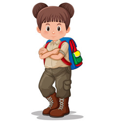 A girl scout character vector